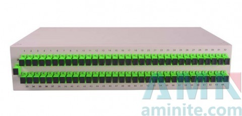 Fiber Optic PLC Splitter 19 Inch Rack