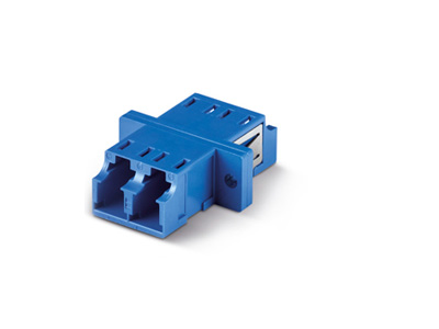 LC/UPC to LC/UPC Duplex Fiber Optic Adapter with SC Footprint