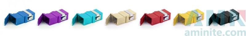SC/APC to SC/APC Simplex Fiber Optic Adapter with shutter