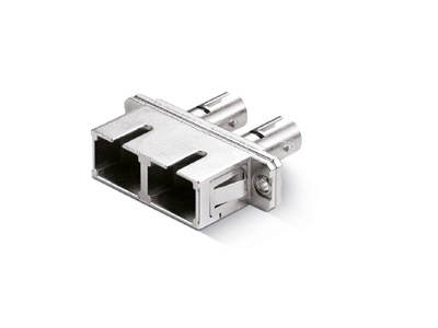 SC-ST-Duplex-Adapter-with-Rectangular-Flange-Metal