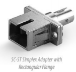 SC-ST Simplex Adapter with Rectangular Flange