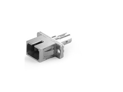 SC-ST-Simplex-Adapter-with-Rectangular-Flange