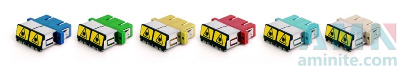 SC/UPC to SC/UPC Duplex Aadapter with Removable Shutter