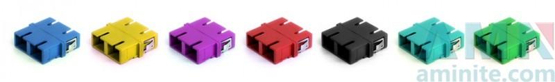 SC/UPC to SC/UPC Duplex Fiber Optic Adapter without flange