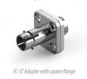 FC to ST Simplex Hybrid Adapter With Square Flange