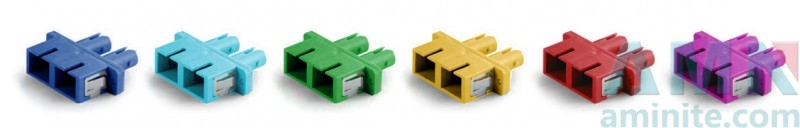 SC to ST Duplex Hybrid Adapter With Rectangular Flange Plastic