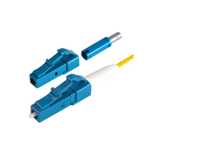 LC/UPC 1.2mm Short Boot 17mm Single Mode Multimode Fiber Optic Connectors
