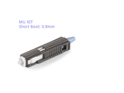 MU Kit Short Boot: 0.9mm Fiber Optic Connectors