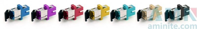 SC APC Simplex Adapter With Removable Shutter